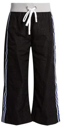 NO KA 'OI No Ka'oi - Ula Ula Side Striped Cropped Trousers - Womens - Black Multi