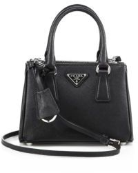 Prada Mini Saffiano Leather Double-Zip Tote $1,350 thestylecure.com