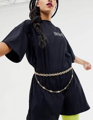 Charm & Chain Asos Design ASOS DESIGN shell charm chain waist and hip belt