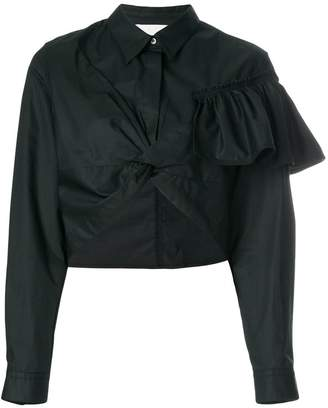 cropped ruffle shirt
