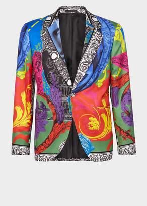 Versace Magna Grecia Print Silk Blazer