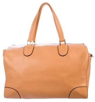 Valextra Leather Milano Satchel