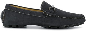 Corneliani square toe loafers