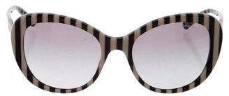 Giorgio Armani Striped Oversize Sunglasses