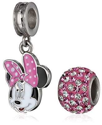 Disney Girls' Minnie Mouse Stainless Steel Pack Bead Charm