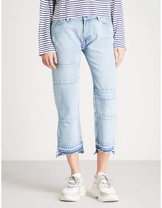 The Kooples Distressed relaxed-fit straight jeans