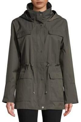 DKNY Packable-Hood Anorak
