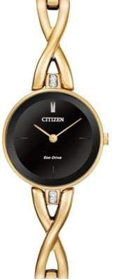 Citizen Analog Silhouette Bangle Goldtone Stainless Steel Watch