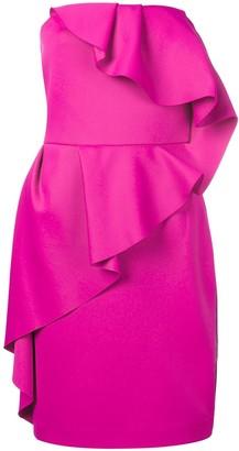 Lanvin ruffled bustier dress