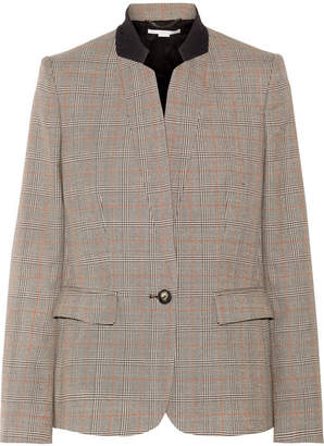 Stella McCartney Fleur Princes Of Wales Checked Wool Blazer - Beige