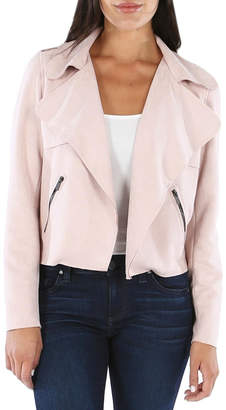 KUT from the Kloth Draped Faux-Suede Moto-Jacket