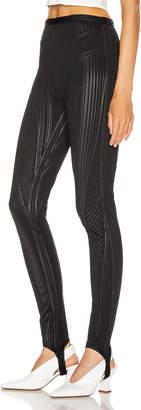 Thierry Mugler Embossed Bicycle Pant in Black | FWRD