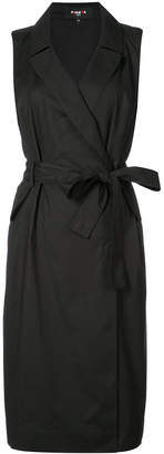 Paule Ka belted sleeveless dress