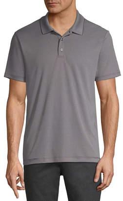 AXIST Axist Short Sleeve Jacquard Woven Polo Shirt