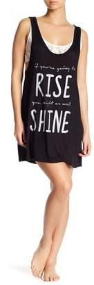 Couture Curvy Shine Lace Underlay Sleep Tank Dress