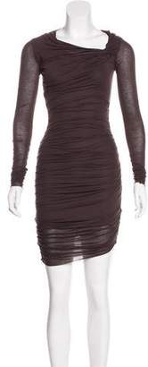 Helmut Lang Long Sleeve Ruched Dress