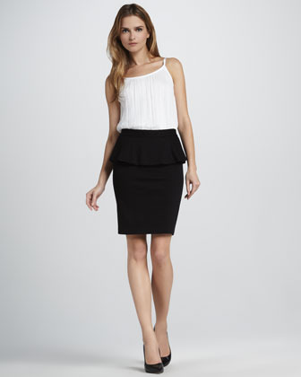 Alice + Olivia Natasha Peplum Pencil Skirt