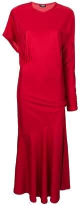 Calvin Klein asymmetric draped dress