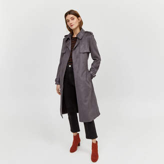 Warehouse Suedette Trench Coat