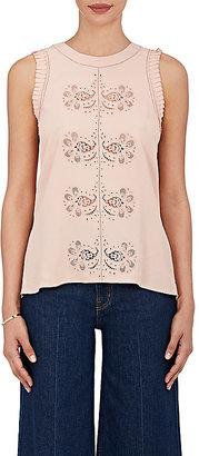 Derek Lam 10 Crosby Women's Silk-Blend Sleeveless Blouse $450 thestylecure.com