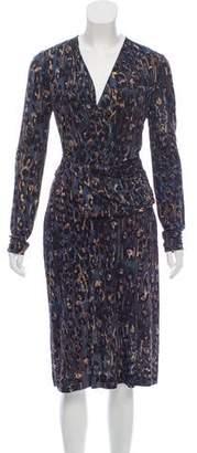 Salvatore Ferragamo Printed Knit Dress