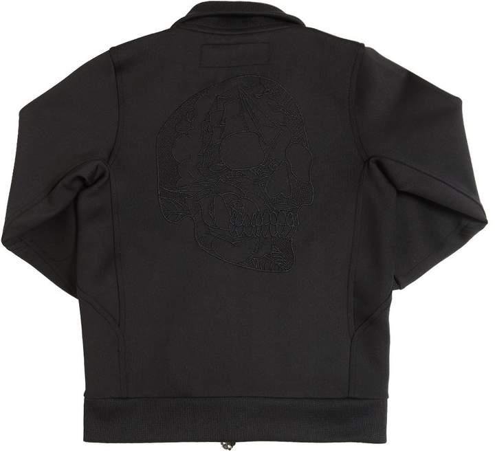Hydrogen Kid Skull Embroidered Stretch Track Jacket