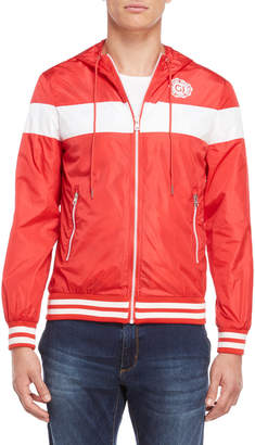 Gaudi' Gaudi Jeans Red Hooded Windbreaker Jacket