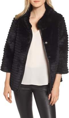 Linda Richards Genuine Rex Rabbit Fur Crop Jacket