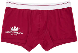 Dolce & Gabbana Red Crown Boxers