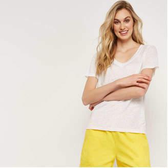 ae4610c39312 Joe Fresh Women's Stripe Linen Tee, Natural (Size ...