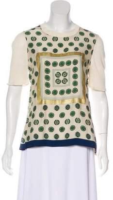 Celine Short Sleeve Knit Top
