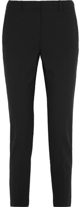 Theory - Testra Stretch-wool Crepe Slim-leg Pants - Black $265 thestylecure.com
