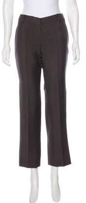 Chloé Mohair-Blend Mid-Rise Pants