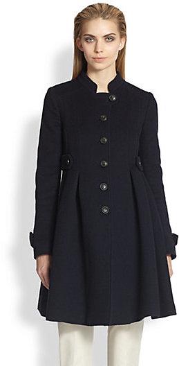 Armani Collezioni Double Face Wool Military Coat