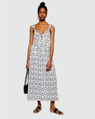 Topshop PETITE Heart Knot Maxi Dress