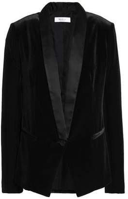 Bailey 44 Dracula Satin-Trimmed Velvet Blazer