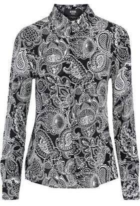 Versace Printed Silk-Satin Shirt