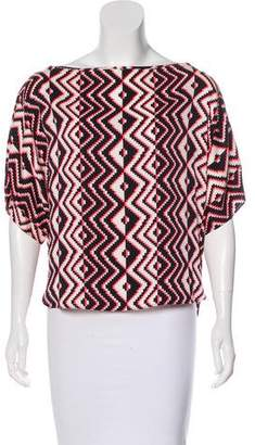 Milly Printed Silk Top