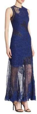 Jonathan Simkhai Collection Collection Women's Sleeveless Lace Gown - Midnight - Size 4