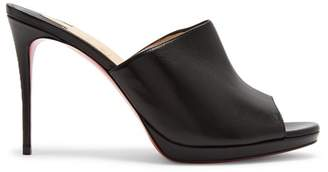 Christian Louboutin Pigamule 105 Leather Mules - Womens - Black