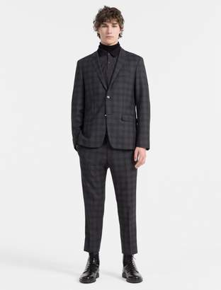 Calvin Klein slim fit wool check suit
