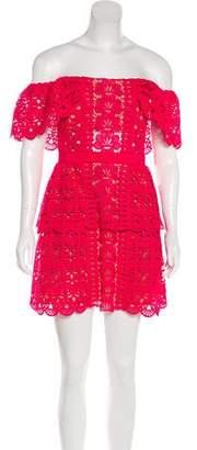 Self-Portrait Crocheted Mini Dress