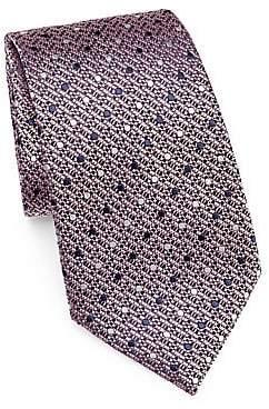 Ermenegildo Zegna Men's Polkadot Weave Tie