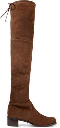 Stuart Weitzman - Midland Suede Over-the-knee Boots - Brown $800 thestylecure.com