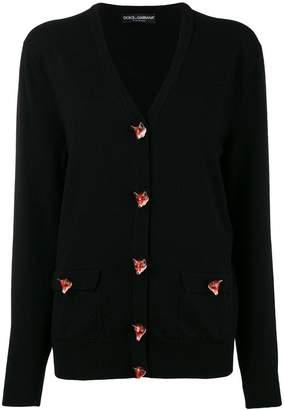 Dolce & Gabbana cashmere Fox v-neck cardigan