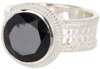 Anna Beck Sterling Silver Black Onyx Stone Ring