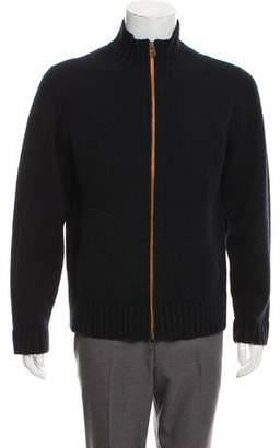 Jack Spade Wool Zip-Up Sweater