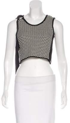 Celine Checkered Crop Top