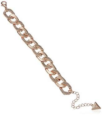 GUESS Women's Chunky Curb Chain W Pave BR Hot in The City Link Bracelet