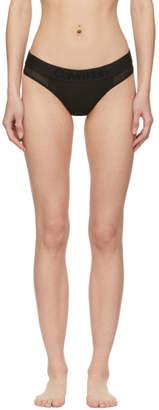 Calvin Klein Underwear Black Tonal Logo Thong